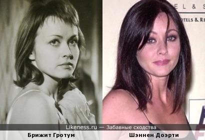 Брижит Гротум и Шэннен Доэрти