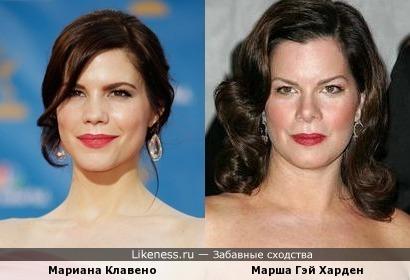 Мариана Клавено и Марша Гэй Харден