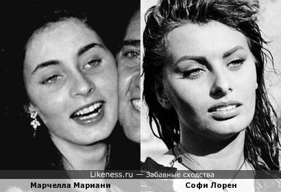 Марчелла Мариани и Софи Лорен (дубль 2)