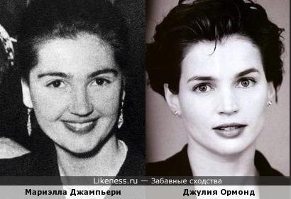 "Мариэлла Джампьери (""Мисс Италия 1949"") и Джулия Ормонд"