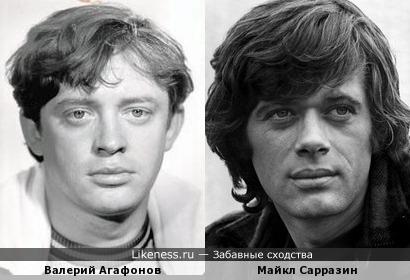 Валерий Агафонов и Майкл Сарразин
