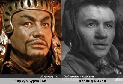 Шукур Бурханов и Леонид Быков