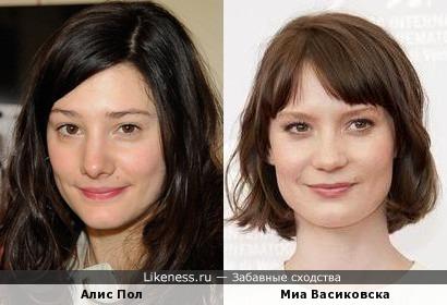 Алис Пол и Миа Васиковска