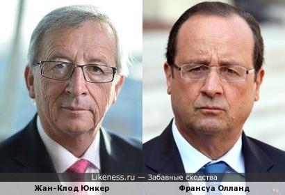 Жан-Клод Юнкер и Франсуа Олланд