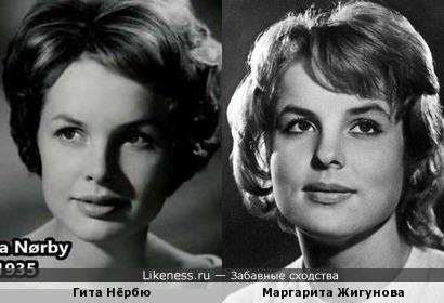 Гита Нёрбю и Маргарита Жигунова