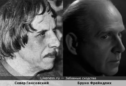 Север Гансовский и Бруно Фрейндлих