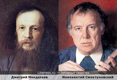 Дмитрий Менделеев (кисти Крамского) и Иннокентий Смоктуновский