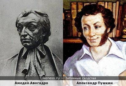 Амедео Авогадро и А.С.Пушкин
