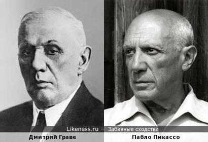 Дмитрий Граве и Пабло Пикассо