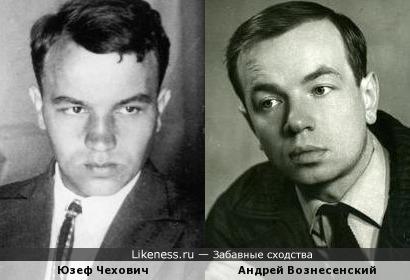 Юзеф Чехович и Андрей Вознесенский