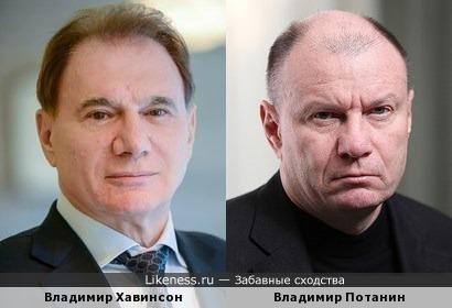 Владимир Хавинсон и Владимир Потанин