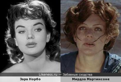 Зара Норбо и Мирдза Мартинсоне