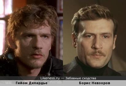 Гийом Депардье и Борис Невзоров