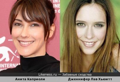 Анита Каприоли и Дженнифер Лав Хьюитт