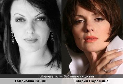 Габриэлла Занчи и Мария Порошина