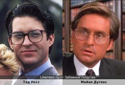 Тед Уосс и Майкл Дуглас