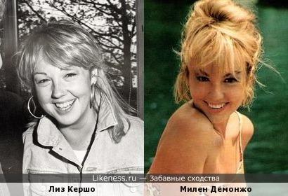 Лиз Кершо и Милен Демонжо