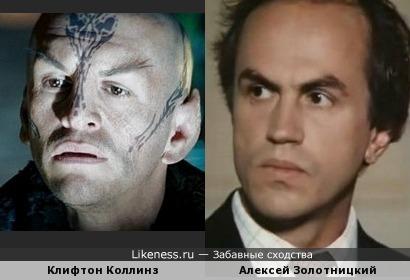 Клифтон Коллинз в гриме напомнил Алексея Золотницкого