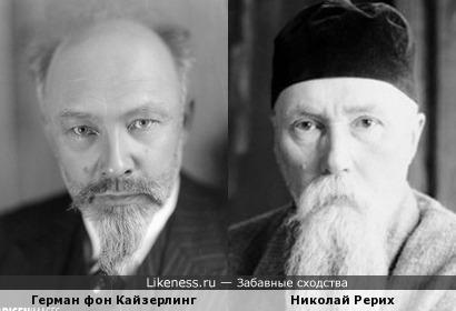 Герман фон Кайзерлинг и Николай Рерих