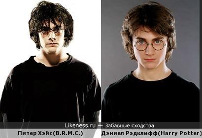 Питер Хэйс похож на Гарри Поттера(Дэниела Рэдклиффа)