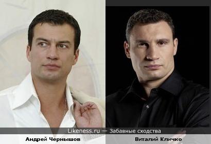 Андрей Чернышов похож на Виталия Кличко