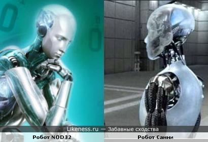 Встреча роботов - из ESET и U.S.Robotics