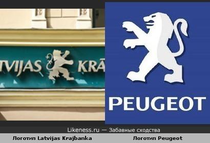 Логотип латвийского банка похож на логотип Пежо