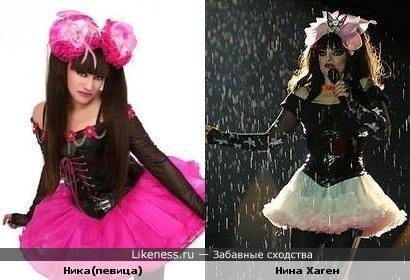 Ника и Нина Хаген похожи