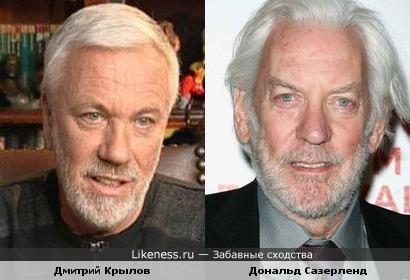 Дмитрий Крылов и Дональд Сазерленд