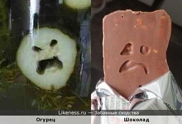 Шоколад с огурцом