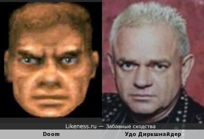 Удо Диркшнайдер (Accept) похож на героя из Doom
