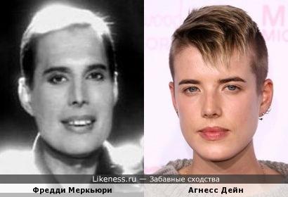 Фредди Меркьюри и Агнесс Дейн