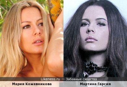 Мария Кожевникова и Мартина Гарсия