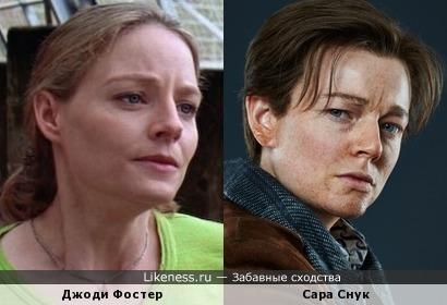 В этой роли Сара Снук похожа не только на Ди Каприо