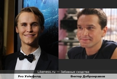 Виктор Добронравов и Риз Уэйкфилд похожи.