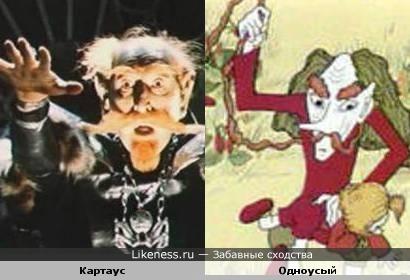 Персонаж сказки Картаус похож на персонажа мульта Одноусого.
