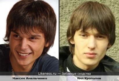 Максим Амельченко и Нил Кропалов похожи.