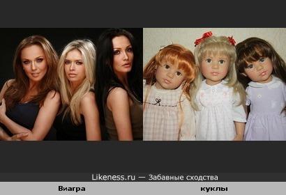 Куклы напомнили классический состав БЛОНДИНКА, РБРЮНЕТКА И РЫЖАЯ.