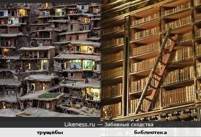 Что общего между трущёбами и библиотекой? ПЛОТНОСТЬ!
