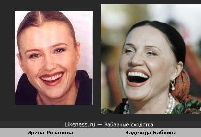 Надежда Бабкина на этом снимке напомнила Ирину Розанову