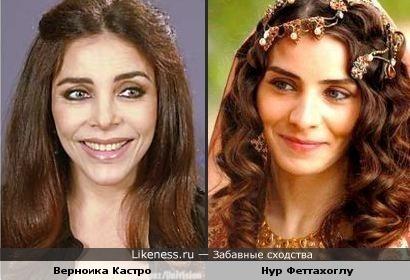 Сериальные актрисы похожи.