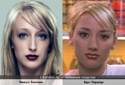 Модель и актриса похожи, только первую словно сплющили малость.