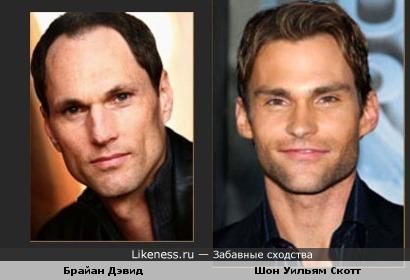 Брайан Дэвид и Шон Уильям Скотт похожи.