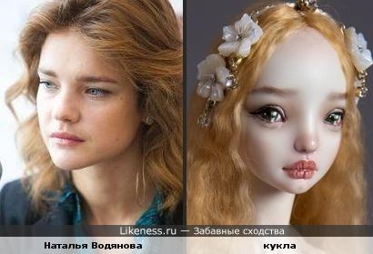 Кукла похожа на Водянову