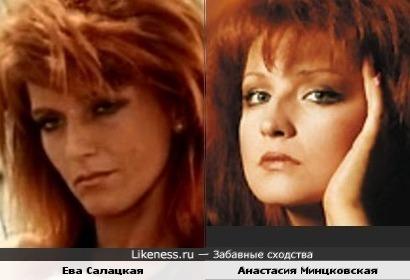Ева Салацкая и Анастасия Минцковская похожи.