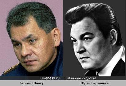 Сергей Шойгу и Юрий Саранцев похожи.