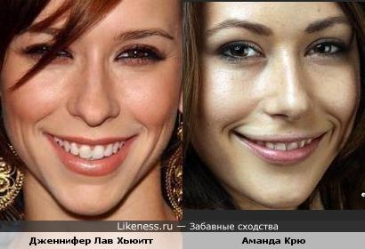 Малоизвестная актриса похожа на известную, но известности ей это не добавляет