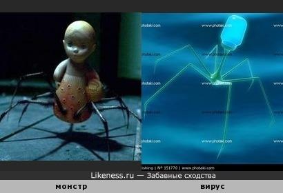 Схематичное изображение вируса напомнило то ли Машеньку, то ли Катеньку из Ночного дозора