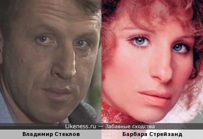 Владимир Стеклов и Барбара Стрейзанд похожи.