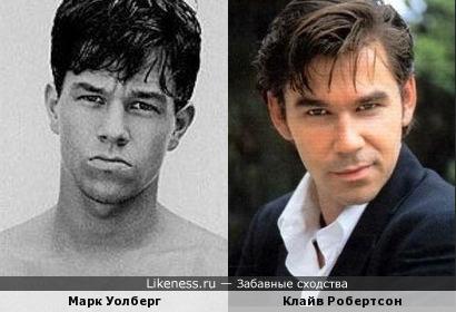 На этом фото Уолберг очень похож на Робертсона.